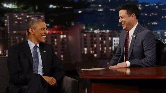 Obama visita por primera vez el programa de Jimmy Kimmel