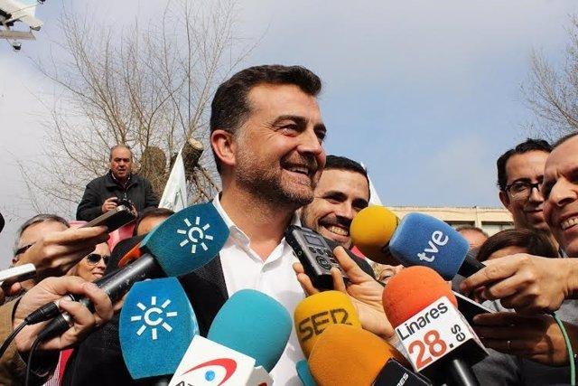 El candidato de IU a la Junta, Antonio Maíllo.