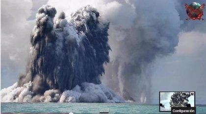 Una erupción volcánica provoca el nacimiento de una asombrosa isla