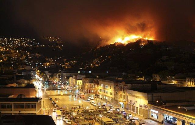 Incendio en Valaparaíso