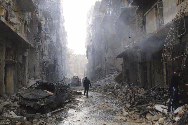 Siria cumple cuatro años de un conflicto armado
