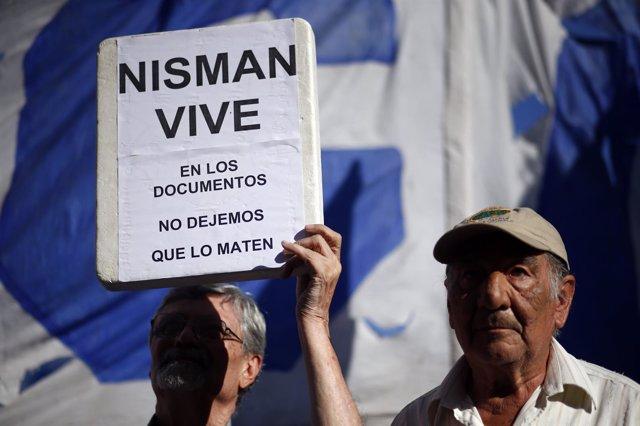 Manifestación por la muerte del fiscal Alberto Nisman
