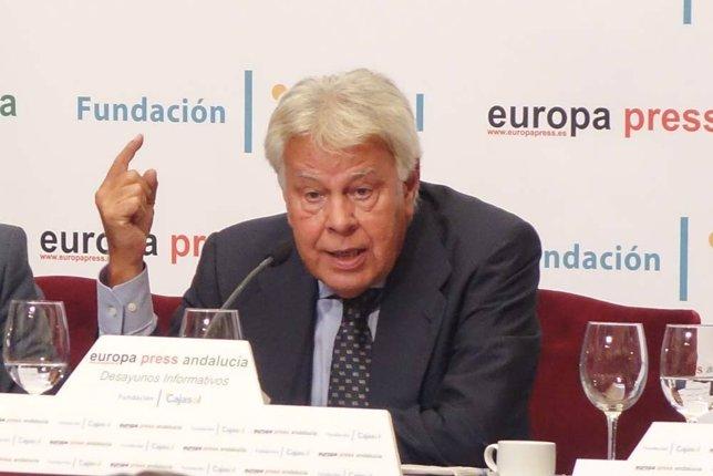 Felipe González, en los Desayunos de Europa Press Andalucía