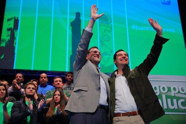 Rajoy y Moreno en Roquetas