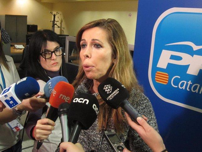 La presidenta del PP catalán, Alícia Sanchez-Camacho