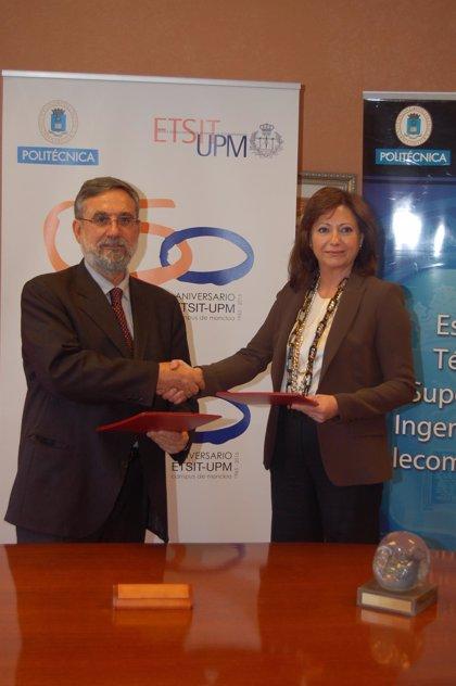 MADRID.-Fujitsu firma un convenio con la Escuela de Ingenieros de Telecomunicaciones para impulsar proyectos formativos