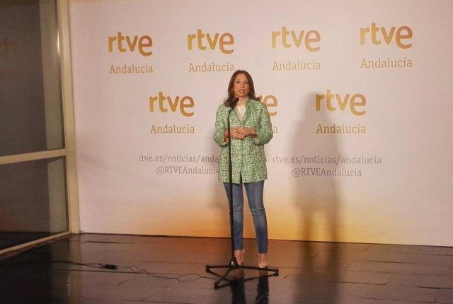 La coordinadora de campaña del PP-A, Patricia Navarro