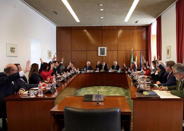 Reunión de la Diputación Permanente del Parlamento el día 3 de marzo