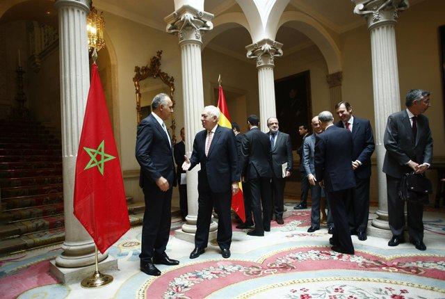 García-Margallo recibe al ministro de Exteriores marroquí Salaheddin Mezouar