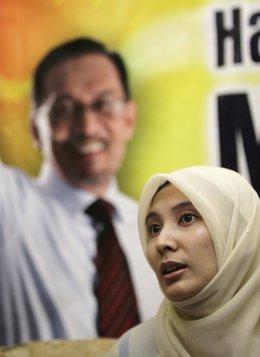 Nurul Izzah hija del opositor ANwar Ibrahim
