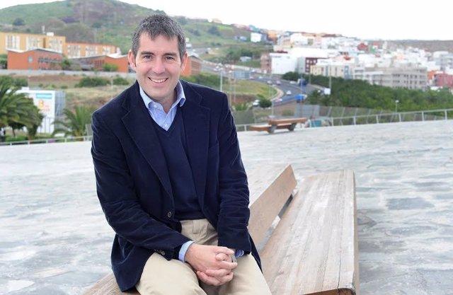 El Candidato De CC A La Presidencia Del Gobierno De Canarias, Fernando Clavijo
