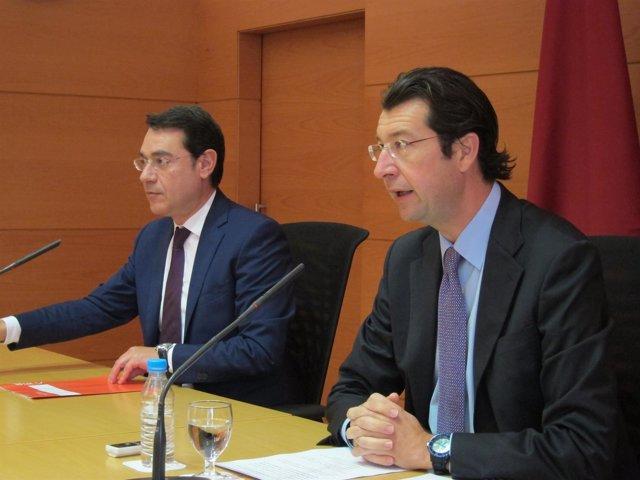 José Gabriel Ruiz y Juan Carlos Ruiz, en la rueda de prensa