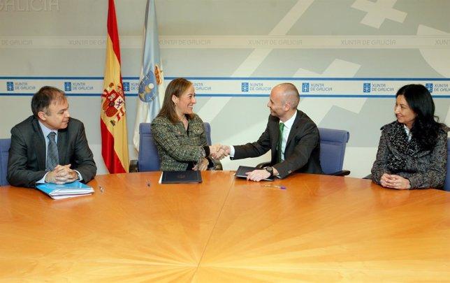 Firma del convenio entre la Xunta y la Sareb
