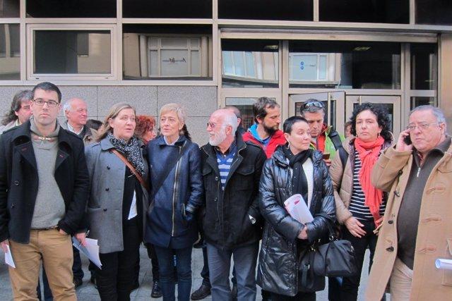 Representantes de sindicatos y colectivos sociales