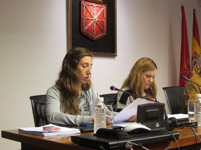 María Vela y Sara Ballano, del comité de empresa de Ganasa.