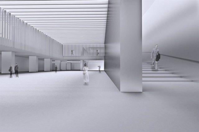 Proyecto del Cubo puerto Málaga Centro Pompidou