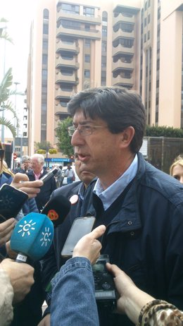 El candidato de Ciudadanos a la Junta de Andalucía, Juan Marín