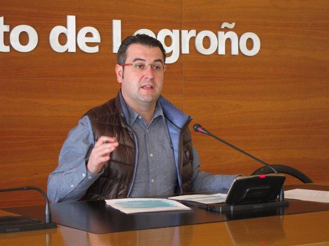 Javier Merino, en la rueda de prensa