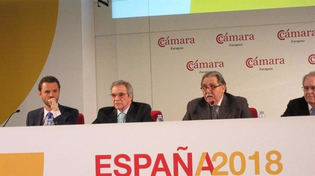 César Alierta, en la presentación de 'España 2018'