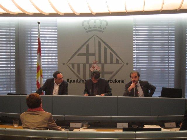 J.Ciurana, J.Portabella y G.Ardanuy