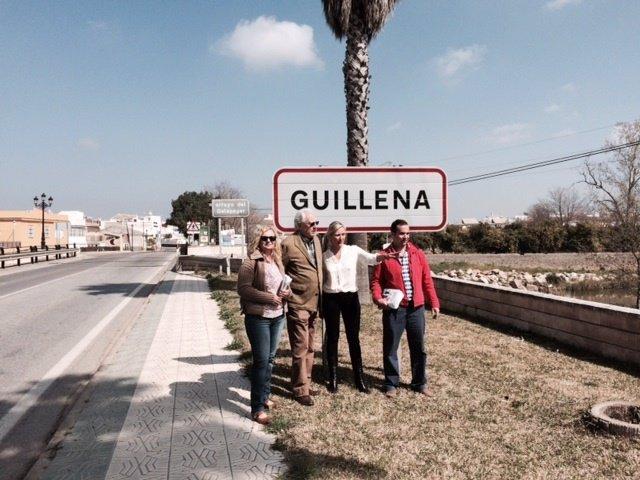 Los populares en Guillena.