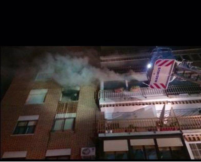 Incendio en una vivienda de Móstoles