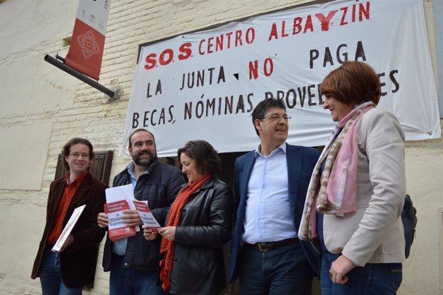 Diego Valderas en acto de IU en Granada