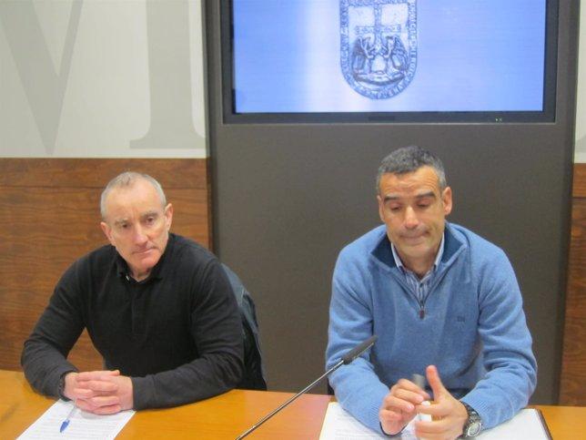 Los delegados de CSI , Miguel Angel Órdoñez Lorenzana y Segundo Abello.