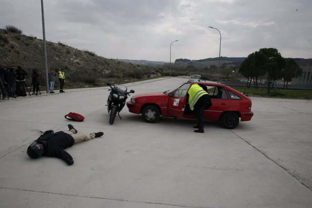 Simulacro accidente de coche