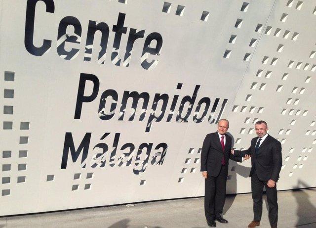 De la Torre y Alain Seban en el Centre Pompidou de Málaga
