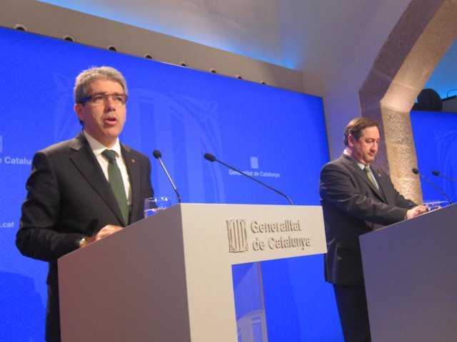 Los consellers Francesc Homs y J.M.Pelegrí