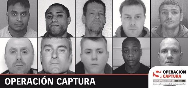 Lista de los diez huidos británicos buscados en España