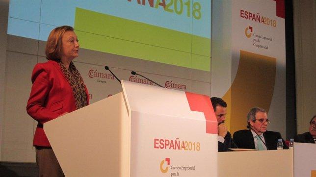 Rudi en la presentación del Informe España 2018