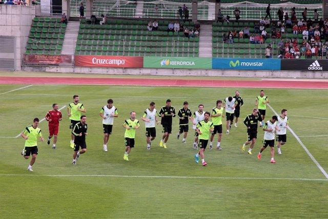 La selección española se entrena en Las Rozas