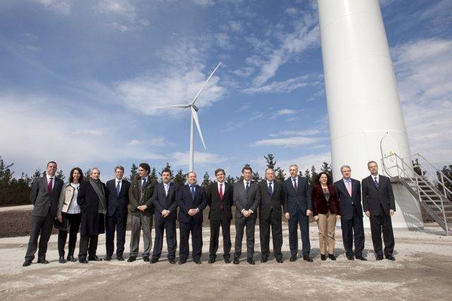 Inauguración parque eolico cordal en Aranga