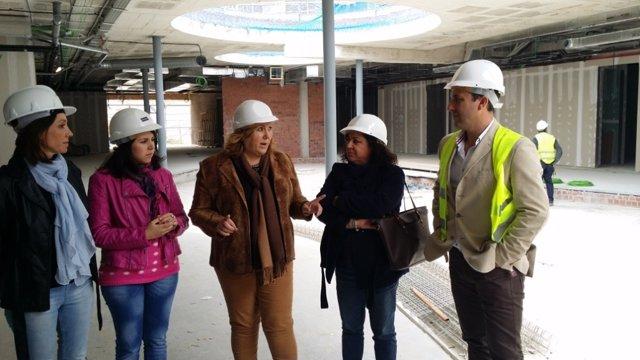 Visita a las obras del Hospital de Alta Resolución de Cazorla (Jaén)