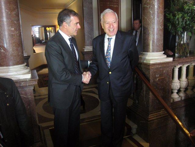 Borja García-Nieto (pte. Círculo Ecuestre) ministro José Manuel García-Margallo