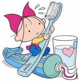 Fundación Dental Española repartirá cuentos, niño, cepillo de dientes, higiene