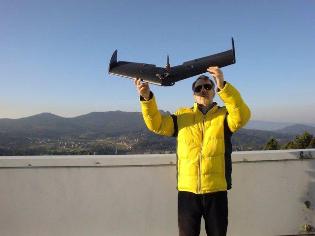 Dron de la Universidade de Vigo.