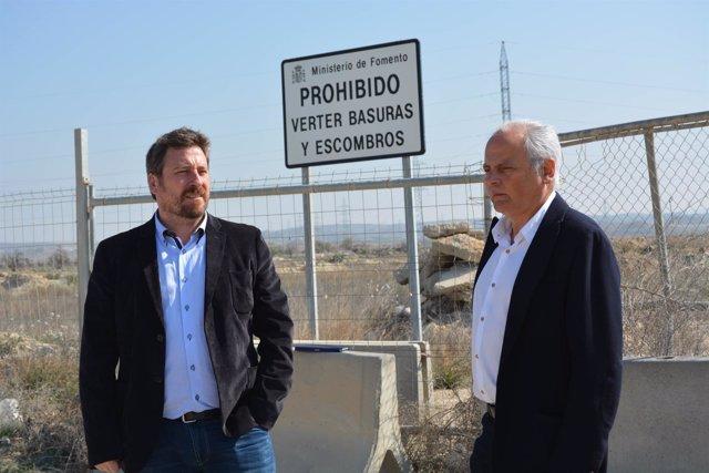 Soro y Montero han visitado este martes los terrenos en Villamayor