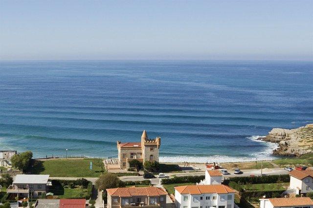 Hotel El Castillo, Suances, Playa De Los Locos