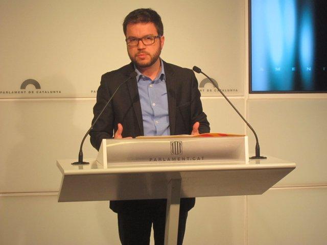 Pere Aragonès (ERC) en rueda de prensa