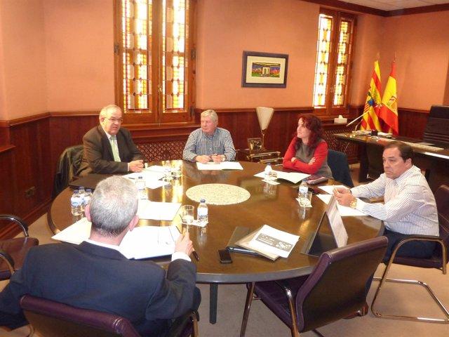 Junta de la Asociación de Empresarios de Limpieza de Huesca