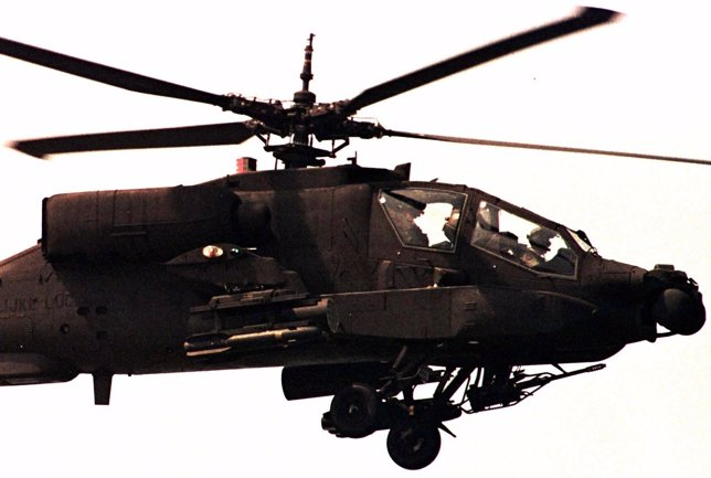 Un helicóptero de combate AH-64 'Apache' holandés