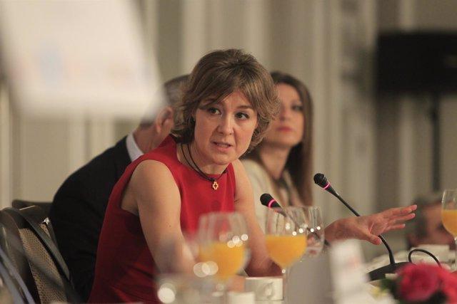 Isabel García Tejerina en los Desayunos de Europa Press