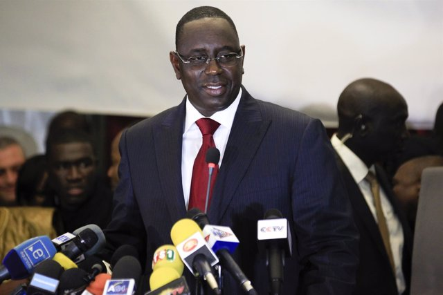 Senegalese opposition presidential candidate Sall speaks at news conference in D
