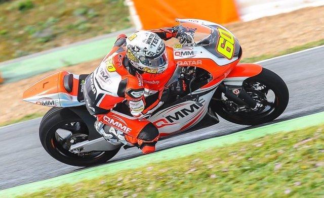 Julián Simón en el test de pretemporada de Jerez