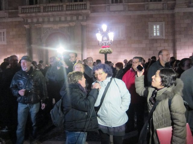 Protesta contra la sentencia del TS por el bloqueo del Parlament