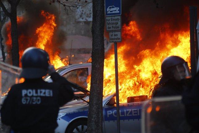 Disturbios en Frankfurt, Alemania, por la nueva sede del Banco Central Europeo
