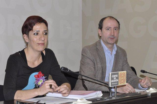 Paloma Lafuente y Luis Ángel Romero (IU)